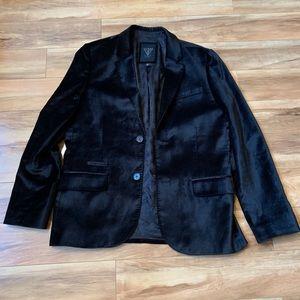 Guess Black velvet blazer